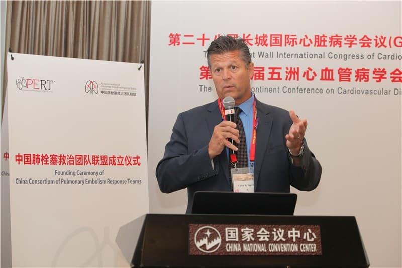 Professor Victor F. Tapson, Chairman of the US PERT Consortium