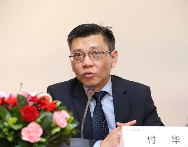 Professor Wang Yan speaking at the press conference