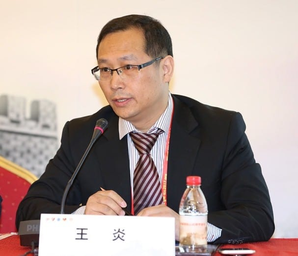 Professor Lu Changhong speaking at the press conference